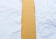 Texture chiffonnée de papier et de cardbroad image stock