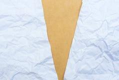 Texture chiffonnée de papier et de cardbroad photographie stock libre de droits