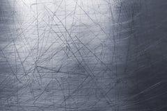 Texture chiffonnée en métal, vieille surface de tôle d'acier ou plat d'avance image libre de droits