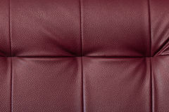 Texture of chili red leather furniture royalty free stock photos