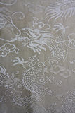 Texture of chinese dragon pattern fabric Royalty Free Stock Image