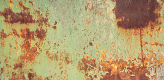 Texture of chipping paint on rusty metal royalty free stock photography