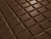 Texture of chocolate bar. 3d render. Chocolate bar, rectangles, texture. 3d render Royalty Free Stock Image