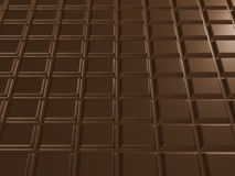Texture of chocolate bar. 3d render Stock Photography