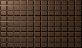 Texture of chocolate bar. 3d render. Chocolate bar, rectangles, texture. 3d render Royalty Free Stock Photography