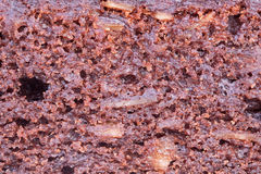 Texture of a chocolate cake Royalty Free Stock Photo