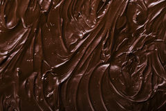 Texture of chocolate icing. Close-up Royalty Free Stock Photo