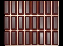 Texture of a chocolate tile. Chocolate tile on a gold background Stock Images