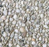 Texture cimentée de cailloux Photographie stock