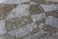 Texture circulaire urbaine minérale de trottoir Images libres de droits