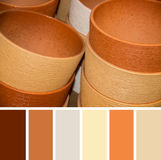 Texture of clay floralpots, colour palette swatches. Royalty Free Stock Photos