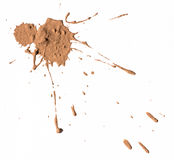 Texture clay moving in white background. Royalty Free Stock Photography