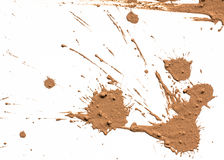 Texture clay moving in white background. Royalty Free Stock Image