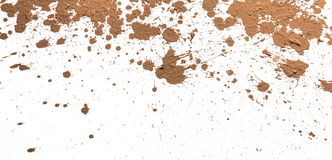 Texture clay moving in white background. Stock Images
