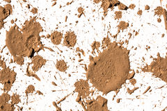 Texture clay moving in white background. royalty free stock photo