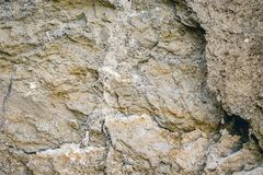 Texture of  clayey earth surface with layers of solid_ Royalty Free Stock Image
