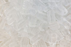 Texture of clear ice cubes background. Stock Images
