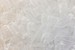 Texture of clear ice cubes background. Stock Photo