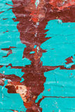 Texture Close Up of Chipped colorful peeling paint, covered with Stock Photo