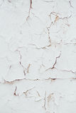 Texture Close Up statue of Chipped White peeling paint, covered Stock Images