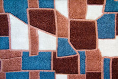 The Texture closeup of an abstract fabric white , gray, brown Stock Photos