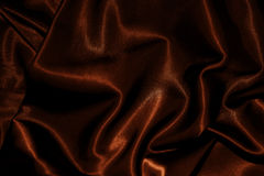Texture of cloth Chocolate brown satin silk Stock Photography