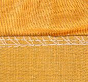 Texture of cloth with stitch. Royalty Free Stock Images