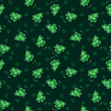 Texture with clover. Seamless texture with little clover Royalty Free Stock Images