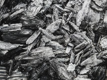 The texture of the coal left from the fire as a background Stock Photography