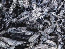 The texture of the coal left from the fire as a background Royalty Free Stock Photo