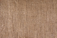 Texture of coarse burlap Stock Photo