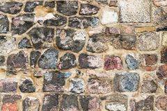Texture of cobble stone wall Royalty Free Stock Image