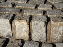 Texture of cobbles Stock Photo