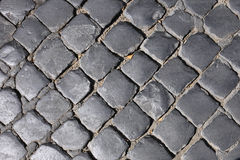 Texture of cobblestone. Royalty Free Stock Photography
