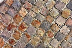 Texture of cobblestone Royalty Free Stock Photo