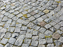 Texture cobblestoned de trottoir de granit Photos libres de droits