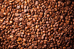 Texture coffee beans closeup Royalty Free Stock Photos
