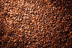 Texture coffee beans closeup Royalty Free Stock Photography