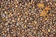 Texture coffee beans Stock Photos