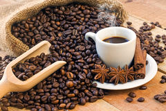 Texture coffee beans Royalty Free Stock Image