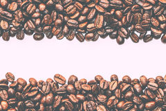 Texture of coffee beans that suitable for background, backdrop, wallpaper, display and everything about coffee artwork . Royalty Free Stock Image