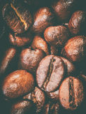 Texture of coffee beans that suitable for background, backdrop, wallpaper, display and everything about coffee artwork . Royalty Free Stock Photo