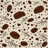 Texture. Coffee beans and the words royalty free illustration