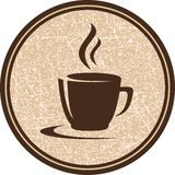 Texture coffee cup icon Royalty Free Stock Photos