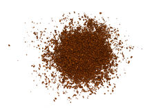 Texture of coffee granules Royalty Free Stock Images