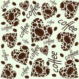 Texture. Coffee heart vector illustration