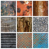 Texture Collage Stock Photography