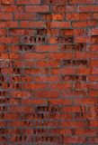 The texture of a collapsing brick wall. Royalty Free Stock Images