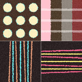 Texture Collection. A collection of four textures based on brown color royalty free illustration