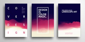Texture colorée abstraite Conception graphique géométrique de vecteur abstrait Conception de couverture de Minimalistic dans des  illustration libre de droits